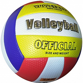 Мяч волейбольный soft touch (бело-сине-красно-желтый) [5]