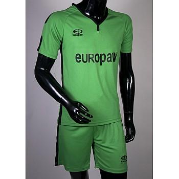 Футбольная форма Europaw 009 зелено-черная [L]
