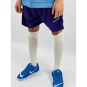 Гетры футбольные Europaw детские белые [35-38]